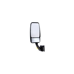 715275 WHITE Velvac Vmax Mirror Head with White Revolution Base with No Turn Signal
