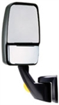 715309 Velvac Black Rv Driver Side Mirror with Revolution Fold-A-Way Mirror