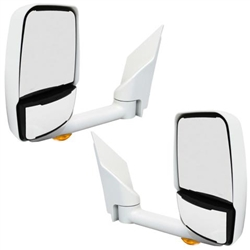 715446 Velvac Mirror Set White E-Series 2004 & Newer With Turn Signal