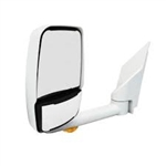 "715447 Velvac Mirror - 2020 Deluxe Head, White,Lighted,102"" Body,Left Side"