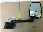 715562 Velvac RV Mirror Passenger Side, Black - Fleetwood # L19-3046