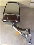 715567  Velvac RV Mirror - Driver Side - Chrome - With Turn Signal Fleetwood 10088543