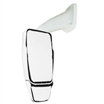 715817 Velvac WHITE RV Mirror Driver Side