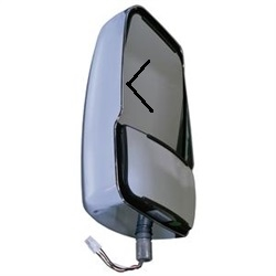 716433 Velvac Chrome Driver Side Deluxe Mirror Head with Turn Signal on Glass