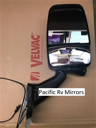 Velvac 719152 Black Passenger Side Deluxe Mirror w/ LEM Camera 2025 Base Replaces 717334