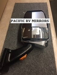 719916 Velvac Mirror Assembly Passenger Side Deluxe Chrome Mirror Head with MLEM Camera
