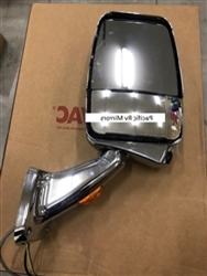 719918 Velvac Passenger Side Mirror  Chome Deluxe Mirror Head with MLEM Camera Chrome 2025 Base with Turn Signal
