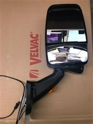 Velvac Part 719942 Passenger Side Black Deluxe Mirror with Bottom Mount MLEM