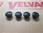 748329 Velvac 2025 Velvac Mounting Screw Caps, Black (4/Pkg.)