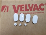 748345 Velvac Set Screw Caps (3/Pkg.) and Mounting Screw Caps (4/Pkg.) - White