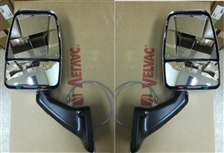 Velvac RV Chrome Mirror Head Black Base Class A W/ Installation Wires & Switch