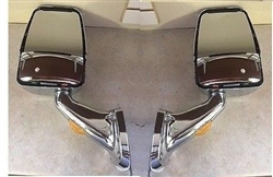 Velvac RV Motorhome Chrome Mirror Set - Turn Signal W/ Wire Kit & Switch
