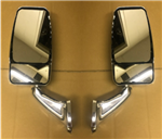 Velvac RV Motorhome Chrome VMAX Head Mirror Set - Non-Powered - No Wires - Easy Install