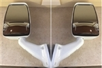 Velvac RV Motorhome White Mirror Set Non-Powered Easy Install