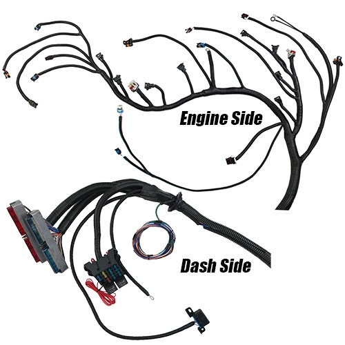 329091 Complete LS/LSX engine swap wiring harness for T56 or non-electric  A/T  Fits Chevrolet and GMC Truck 1999-2006 Gen III LS (4 8, 5 3, 6 0 &