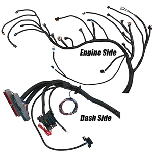 Performance World 329091 1999 - 2006 Gen III LS Chevrolet & GMC Truck (4.8, 5.3, 6.0 & 6.2L) Complete engine swap wiring harness for T56 or non-electric A/T