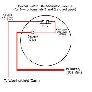 3 Wire Alternator To 1 Wire - talk about wiring diagram  Wire Gm Alternator Diagram on