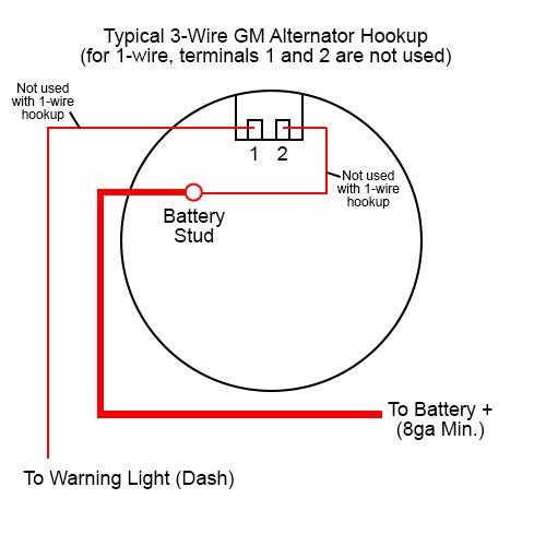 360620 Chrome Plated 100A GM 1/3 Wire Alternator