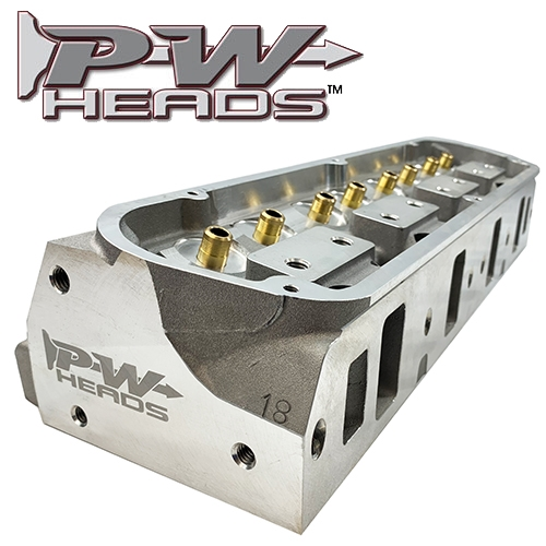 60170 PWHeads 175cc Aluminum Cylinder Heads Pair (bare)  Fits SB Ford  289-351W