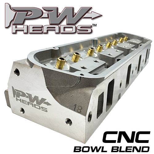 60170-CNC PWHeads 175cc CNC Pocket Ported Aluminum Cylinder Heads Pair  (bare)  Fits SB Ford 289-351W