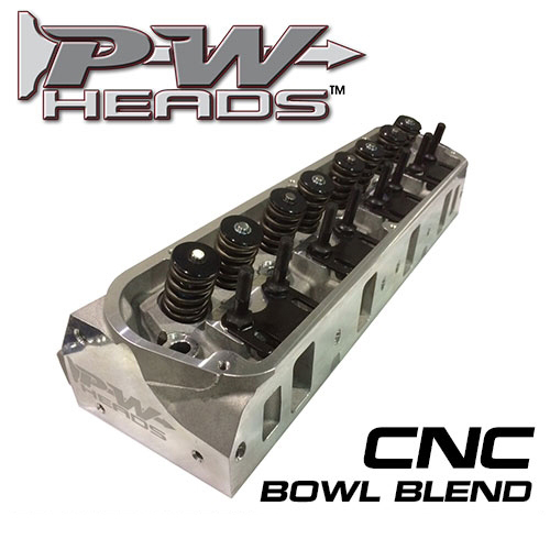 60170-CNCA PWHeads 175cc CNC Pocket Ported Aluminum Cylinder Heads Pair  (complete for hydraulic camshafts)  Fits SB Ford 289-351W