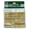 40 Wood Clothes Pins