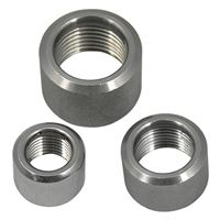 NPT Threaded Half Coupling, Stainless Steel