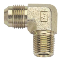 Fragola Steel AN x NPT Adapter - 90 Degree (Male to Male)