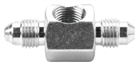 "Fragola Steel Inline Tee for Brake Light Switch, -3 AN x 1/8"" FPT On-the-Side"