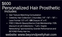 BeYou Exclusive Hair Prosthetic