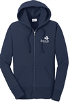 PORT & CO FULL ZIP HOODED SWEATSHIRT