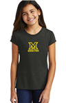 DISTRICT PERFECT TRI-BLEND SHORT SLEEVE TEE - 2 Colors - GIRLS
