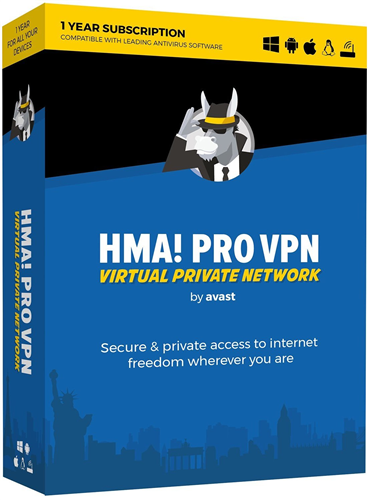 HMA! Pro VPN 2019 - Hide My Ass by Avast Unlimited Devices / 1 Year