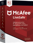 McAfee LiveSafe 2021 Unlimited Devices / 1 Year