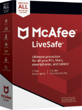 McAfee LiveSafe 2018 Unlimited Devices / 1 Year