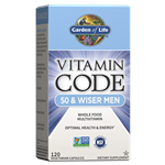 Vitamin Code 50 & Wiser Men's Multi (120 Capsules) Garden of Life
