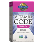 Vitamin Code Women's Multi (240 Capsules) Garden of Life