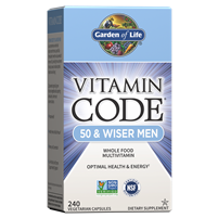Vitamin Code 50 & Wiser Men's Multi (240 Capsules) Garden of Life