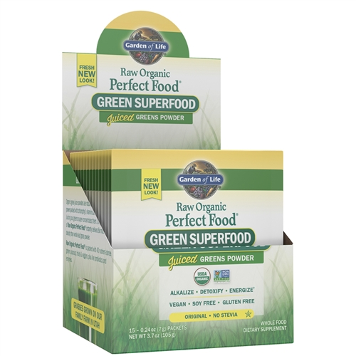perfect food raw single serving packet 10g powder garden of life - Garden Of Life Perfect Food