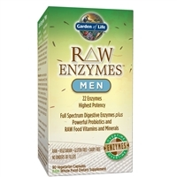 RAW Enzymes Men (90 Capsules) Garden of Life