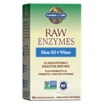 RAW Enzymes Men 50 & Wiser (90 Capsules) Garden of Life