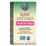 RAW Enzymes Women 50 & Wiser (90 Capsules) Garden of Life