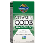 Vitamin Code Raw K-Complex (60 Capsules) Garden of Life