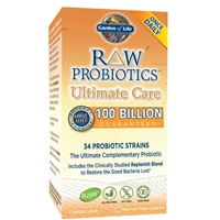 RAW Probiotics Ultimate Care (30 Caps - Heat Sensitive) Garden of Life