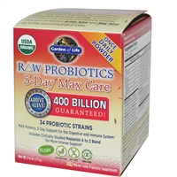 RAW Probiotics 5 Day Max Care (75g Powder - Heat Sensitive) Garden of Life