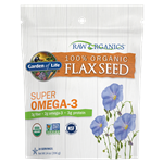 RAW Organics Cold Milled GOLDEN FLAXSEED (14 Oz.) Garden of Life