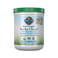Perfect Food Raw Wheat Grass Juice (120g Powder) Garden of Life