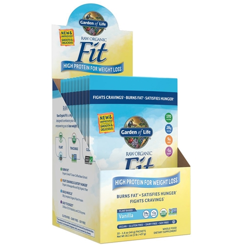 raw fit vanilla single serving packet 42g powder garden of life - Garden Of Life Raw Fit