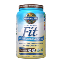 Raw Organic Fit ChocolateProtein w/ Green Coffee Extract (451g Powder) Garden of Life