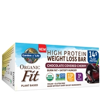 Organic Fit Bars - Chocolate Covered Cherry (box of 12) Garden of Life